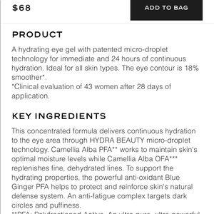CHANEL Makeup - Chanel hydra beauty micro gel yeux eye serum 💙 60fbc41ae1